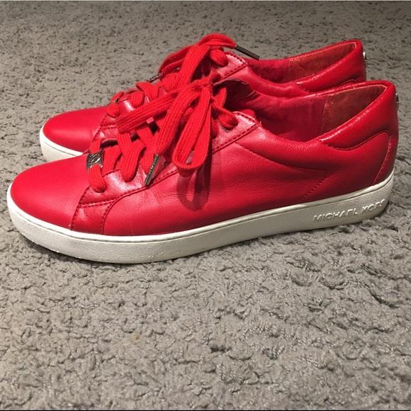 Michael Kors Shoes   Red Tennis 95 9 12